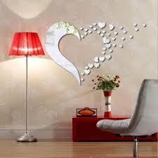 Details about <b>Love</b> Heart Shape <b>Mirror</b> Home <b>3D</b> Wall Stickers ...