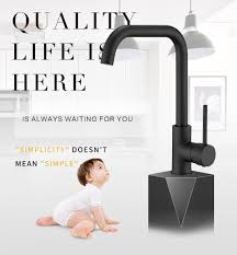<b>Fapully</b> Kitchen Faucet 360 Rotate Black Mixer Faucet for Kitchen ...