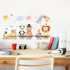 <b>Animal Train</b> PVC Window Film <b>Wall Stickers</b> For Home Decoration ...