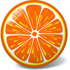 <b>Мяч Апельсин 23</b> см 11/2944