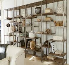 french modern industrial wood metal bookcase etagere amazoncom furniture 62quot industrial wood