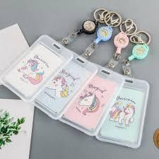 <b>Cartoon PVC Credit Card</b> Holder Women Men Cute Unicorn ...