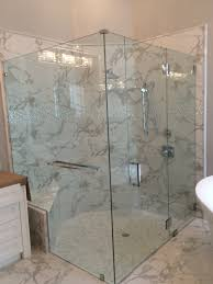 glass shower doors duty door frameless  quot shower with glass to glass hinges