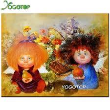 YOGOTOP Diamond Embroidery <b>Cartoon angel</b> doll <b>DIY</b> Diamond ...