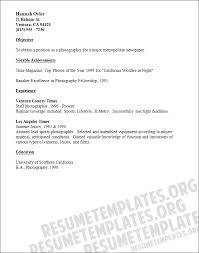 photographer resume template photography resume template