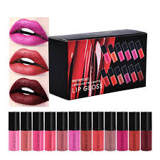 <b>12 Colors</b> Mini Travel Long-Lasting <b>Matte Liquid Lipstick</b> Set ...