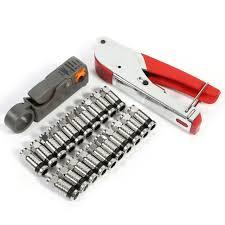 F RCA RG58 RG59 RG6 <b>Coaxial Coax Compression Crimper</b> Tool ...