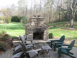 outdoor fireplace paver patio: stone patio with stone outdoor fireplace