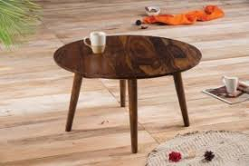 solid wood buck round coffee table buy zina solidwood side table