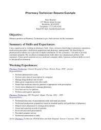 pharmacy technician objective for resume sample shopgrat example of pharmacy technician resume template summary of skills and experiences
