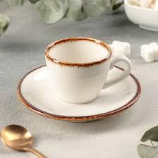 """Кофейная пара """"Глеам"""" чашка 75 мл, <b>блюдце 12 см</b> (4515131 ..."""