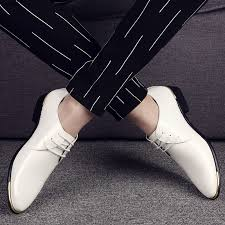 Dress Shoes <b>Plus Size 38-48</b> Patent Leather White Black Oxfords ...