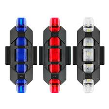 <b>1pc USB Rechargeable</b> MTB Bike Bicycle Cycle Light Rear Tail ...