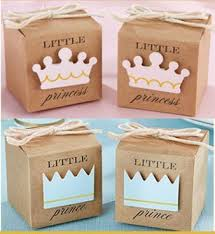 <b>50pcs Little Prince</b> or <b>Princess</b> Crown Favor Boxes Baby Shower ...