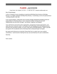 leading media entertainment cover letter examples resources birthday party host