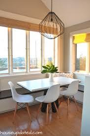 bright modern breakfast nook light bright breakfast nook union pendant modern chairs breakfast nook lighting