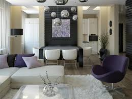 Dining Room Layout Modern Small Dining Room Design Of Cool Grey White Striped Wall