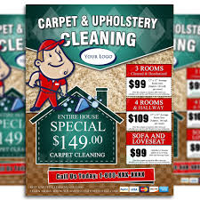 carpet cleaning flyer design brads carpets