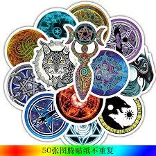 <b>50 PCS Totem</b> Graffiti Sticker <b>Animal</b> Tribal Tattoo Ethnic Stickers ...