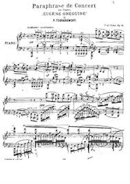 <b>Concert Paraphrase</b> on Themes from 'Eugene Onegin' by <b>P</b> ...