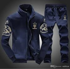 <b>Men's sports suit</b> Tracksuits fashion Slim Baseball uniform <b>Men's</b> ...