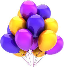 Balloons <b>Birthday Party</b> Multicolor <b>Decoration</b> Blue <b>Purple</b> Yellow ...