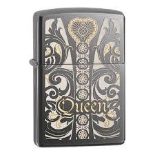 <b>Зажигалка ZIPPO Classic Queen</b> с покрытием Black Ice ...