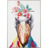 "<b>Картина Bird</b>, коллекция ""Птица"", ручная работа 72*102*5, Лен ..."