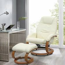 Swivel Recliner Sleeping Chair <b>PU Leather</b> Armchair Cushiony ...