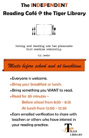 independent reading cafe el paso high school irc poster 2