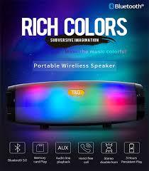 <b>TG165 Portable Bluetooth Speaker</b> Stereo Leather Column 5 Flash ...