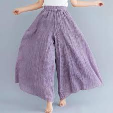 Cotton <b>Linen</b> Wide Leg Pants Women 2020 <b>Summer Thin Elastic</b> ...