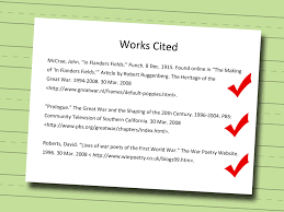 work cited essay ways to write a works cited page wikihow