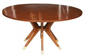oval dining table art deco: mahogany and brass dining table  ft