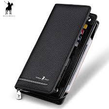 <b>2019</b> wallet male genuine Leather Luxury <b>Brand</b> Men Zipper Wallets ...