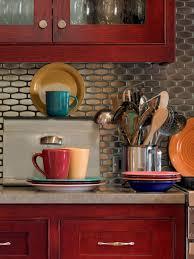 Red Tile Paint For Kitchens Make Stunning Backsplash Decoration For Your Kitchen Using Mosaic