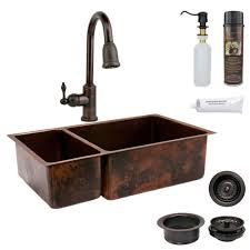 hammered copper kitchen sink: all in one undermount hammered copper  in  hole