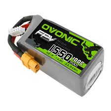 <b>OVONIC 14.8V 1550mAh 4S</b> 100C LiPo Battery Pack with XT60 ...