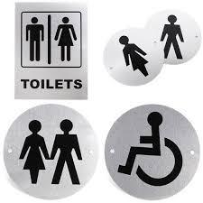 Aluminium Alloy <b>Toilet Entrance Sign</b> Door Decor <b>Bathroom WC</b> ...