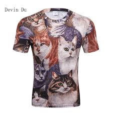 <b>Devin Du</b> Cats T shirt Men 3d Print Meow Star Cat Hip Hop Cartoon ...