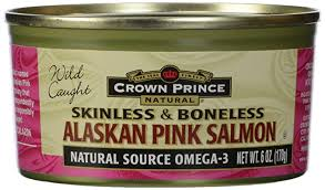 Crown Prince, <b>Pink Salmon</b>, <b>Pacific</b>, <b>Skinless</b> & Boneless, 6 oz ...