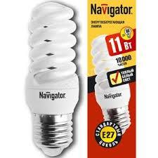 <b>Лампа энергосберегающая</b> КЛЛ <b>11</b>/827 E27 D34x98 спираль ...