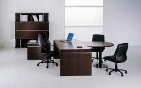 old brown desk color closed modern office chairs on white floor and amusing storage beside window black color furniture office counter design
