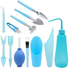 KINGLAKE <b>12 Pcs</b> Blue Succulent Transplanting Tools Kit Mini ...