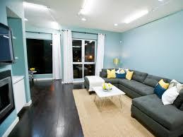 photos hgtv blue dark trendy living room