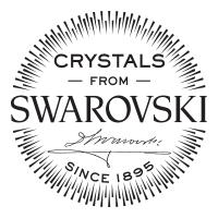 Подвеска из <b>серебра</b> с чёрными кристаллами Swarovski ...