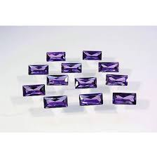 <b>Cubic Zirconia</b> Amethyst Dark Purple Baguette Faceted <b>AAA CZ</b> | Etsy