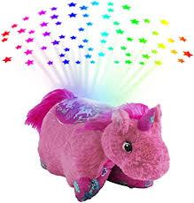 Pillow Pets Colorful Pink Unicorn Sleeptime Lite Plush ... - Amazon.com