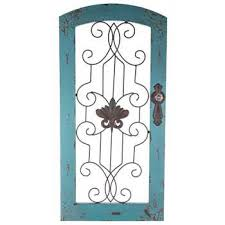 metal wall decor shop hobby: distressed turquoise wood amp metal wall decor