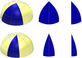 Hemispherical array of sensors with contractively <b>wrapped</b> polymer ...